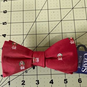 Chaps holiday dog bow tie new red